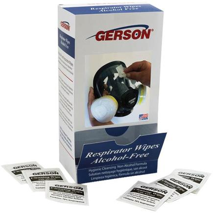 Gerson Alcohol-Free Respirator Wipes