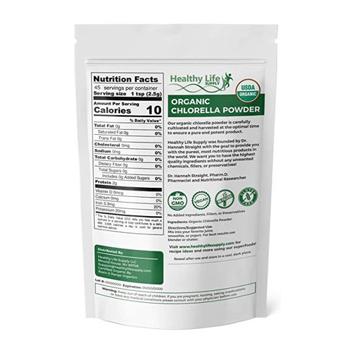 Organic Chlorella back