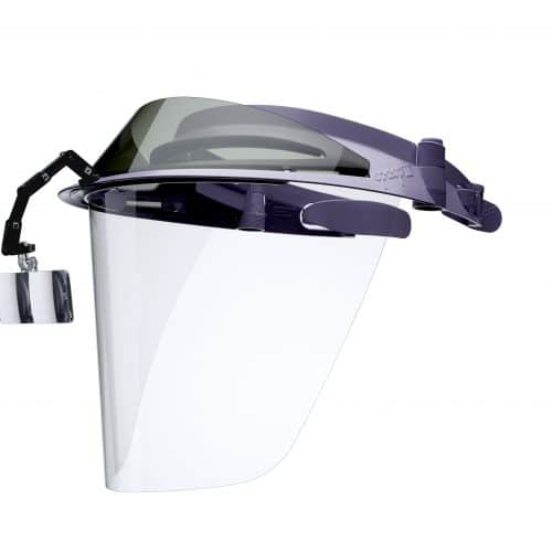 visor with 2.5 dental loupes