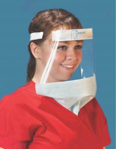 Wide Face Shields with Hanging Drapes